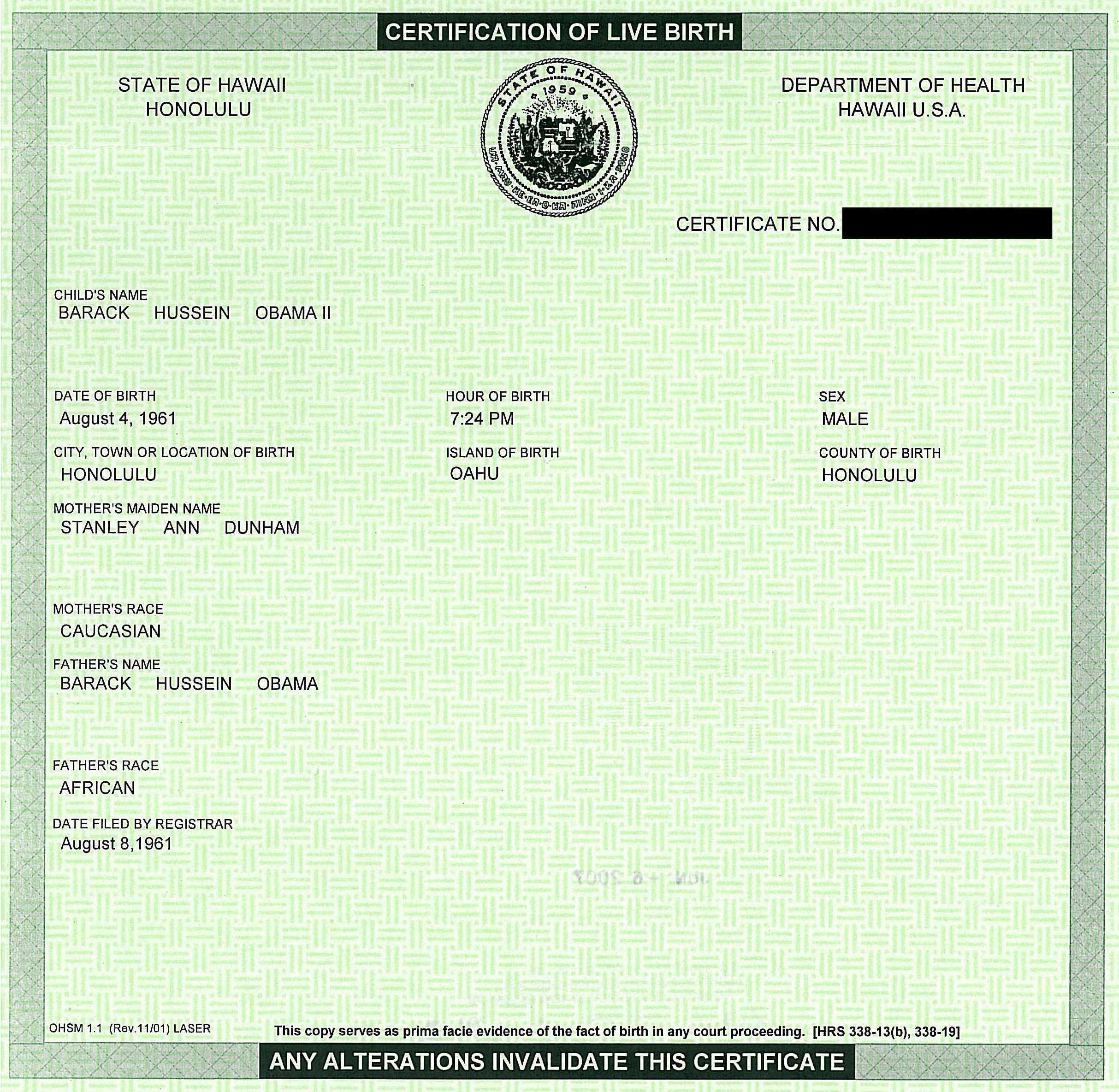 Fox news channel thomas johnston obama birth certificate aiddatafo Images