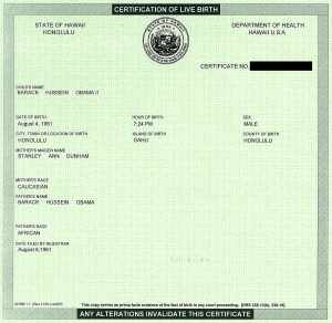 Obama Birth Certificate