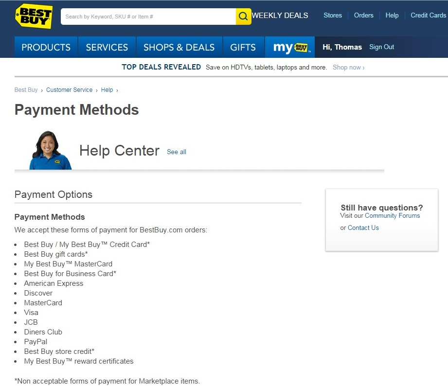 lack of customer service at Best Buy | Thomas Johnston